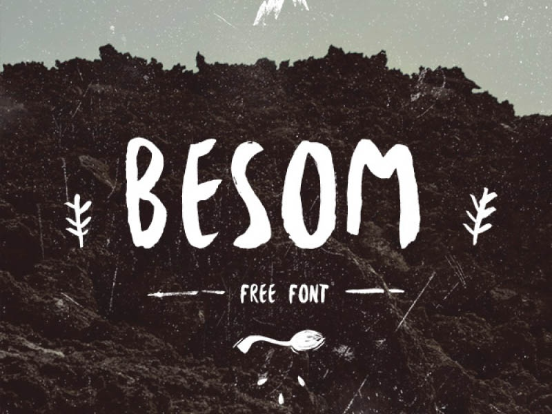 Free Besom Typeface bold hand drawn handdrawn gift download freebie fonts typeface free font
