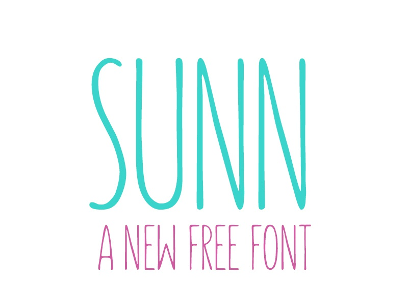Free - Sunn Typeface freebie typefaces typeface free fonts font free sunn