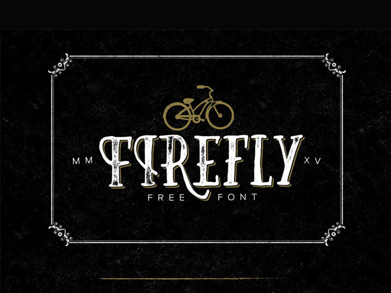 Free - Firefly Typeface bold hand drawn handdrawn gift download freebie fonts typeface free font