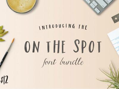 The On The Spot Font Bundle