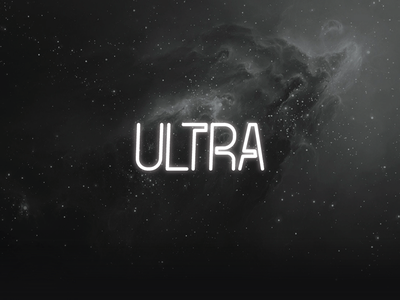 The FREE Ultra Font neon font free typeface free font typeface font