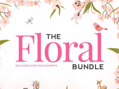 The Hungry JPEG's Huge Floral Bundle