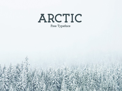 The free Arctic typeface  poster font header font free typeface typeface free font font