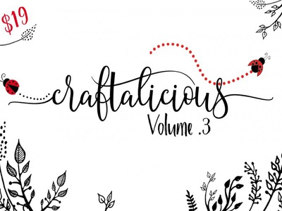The Craftalicious Bundle - Vol. 03 calligraphy font crafter design bundle font bundle typeface font