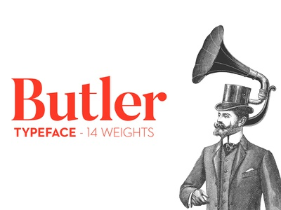 The Fabulous FREE Butler Typeface free font family poster font header font free typeface typeface free font font