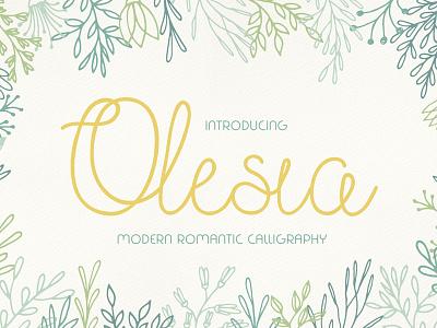 The Free Olesia Font handletter feminine font poster font header font free typeface typeface free font font