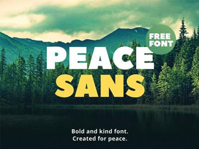 FREE Peace Sans Font poster font header font free typeface typeface free font font