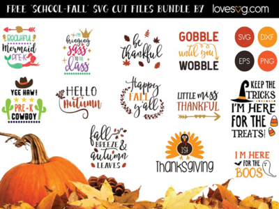 The Free School & Fall SVG Cut Files Bundle