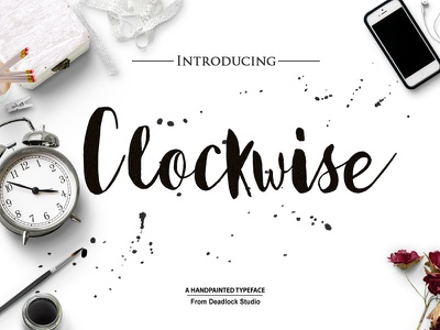 This Week Only: Free Clockwise Script (Usually $10) poster font header font free typeface typeface free font font
