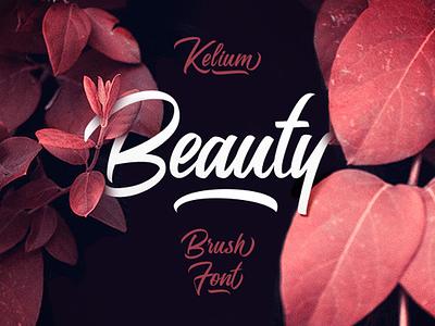 The Kelium Typeface script font face typeface font
