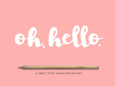 The Free Oh Hello Font