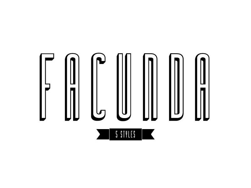The FREE Facunda Font poster font header font free typeface typeface free font font
