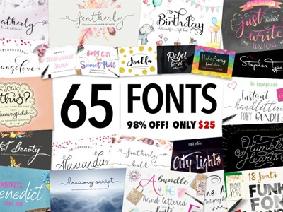 Black Friday Sale: 65 Fonts for Just $25!