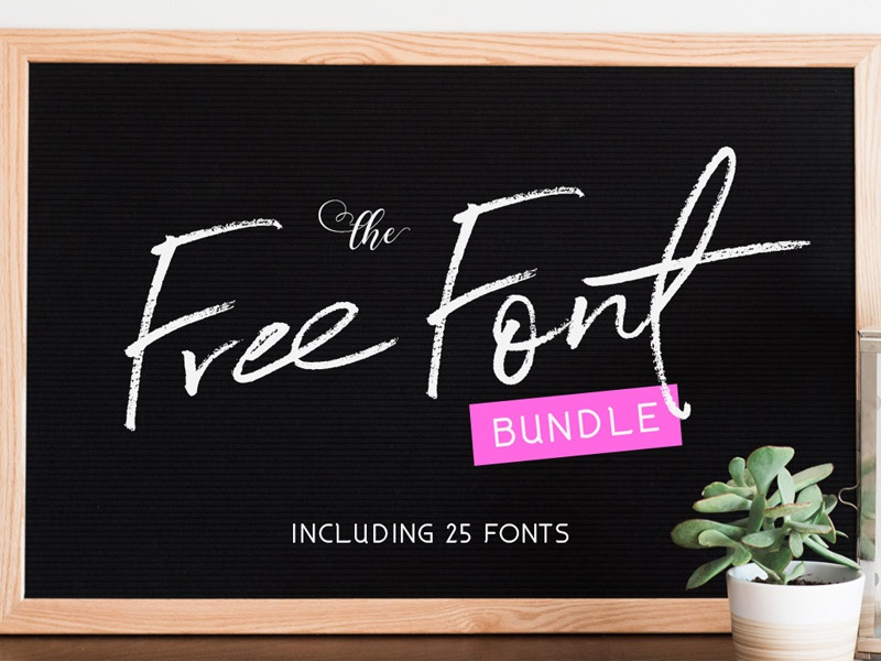 Download Free Font Bundle: 25 Fonts Worth $279! by TheHungryJPEG ...