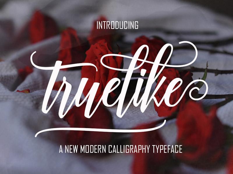 FREE Truelike Script Font script font free script free typeface free font font