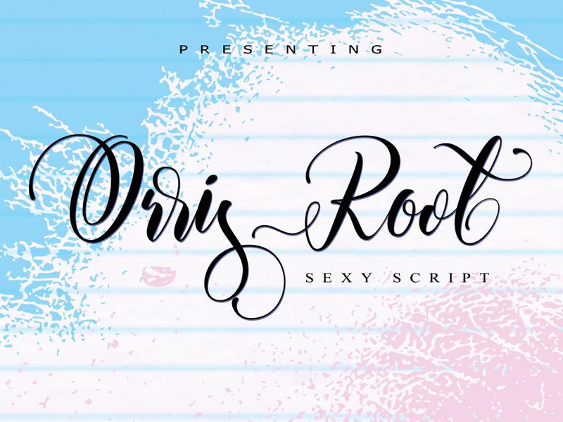 FREE Orris Root Font script font free script free typeface free font font