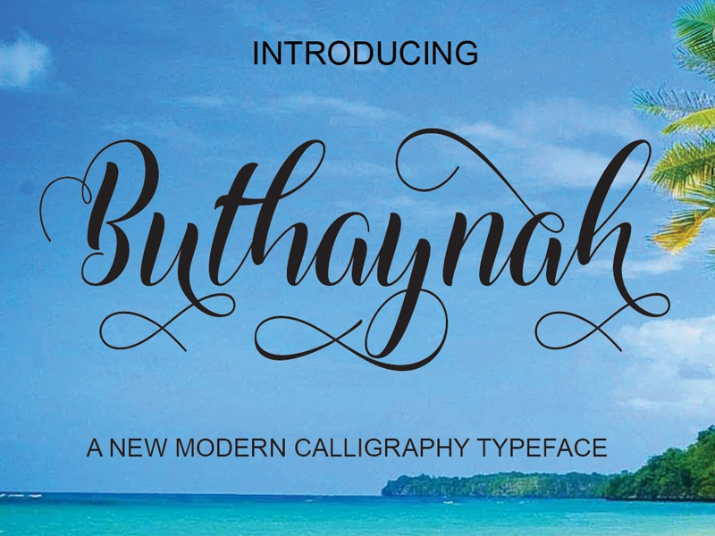 FREE Buthaynah Font script font free script free typeface free font font