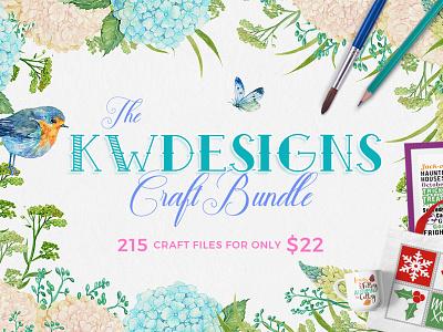 The KWDesigns Craft Bundle cut files silhouette cricut craft bundle