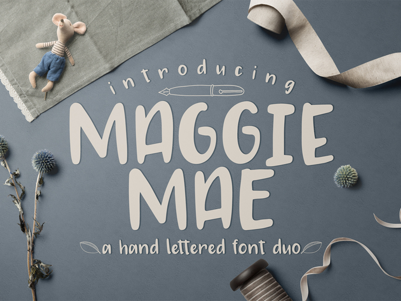 FREE Maggie Mae Font Duo free typeface free font font