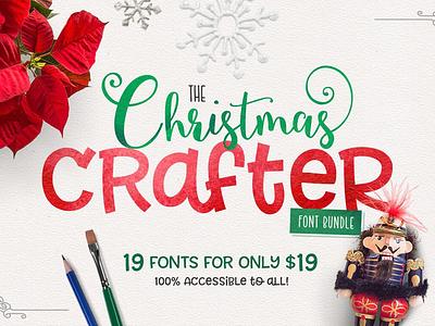 The Christmas Crafter Font Bundle christmas font christmas fonts typeface font bundle font