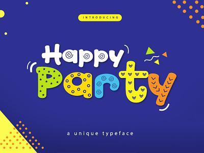 FREE Happy Party Font Family christmas font christmas fonts typeface font bundle font