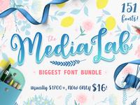 The MediaLab Biggest Font Bundle