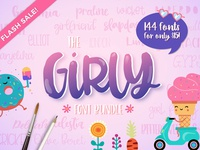 The Girly Font Bundle: 114 Fonts for ONLY $15!