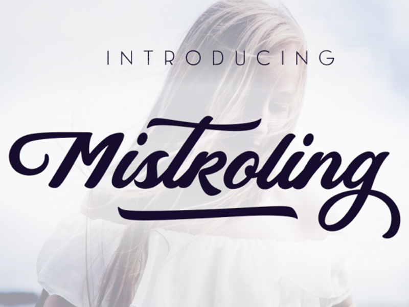 FREE Mistroling Font design freebies free typeface graphic font