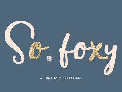 FREE So Foxy Font graphic design design free script script script font typeface free font font