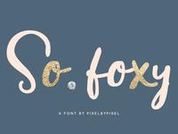 FREE So Foxy Font
