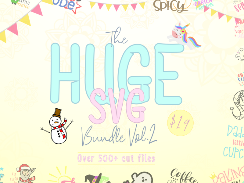 The Huge SVG Bundle Vol 2 cliparts graphics svg cut files craft files crafting craft