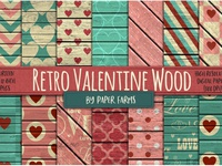 FREE Retro Valentine Wood by PaperFarms