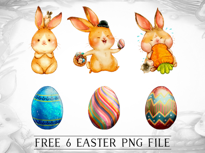 FREE Easter Egg/ Bunny Cliparts easter eggs egg easter bunny rabbit freebie free