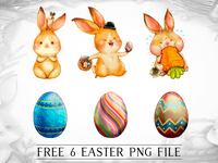 FREE Easter Egg/ Bunny Cliparts