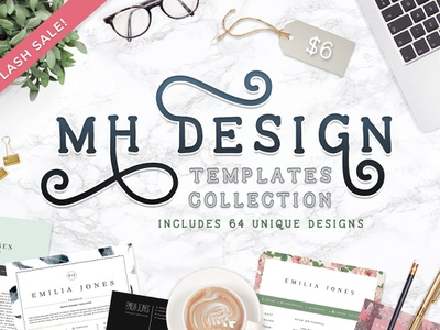 MHDesign Templates Collection resume bundle resume business card cv resumes templates