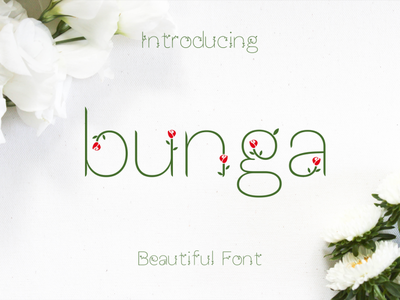 FREE Bunga Font font free typeface typeface craft design modern font script fonts script font free font freebie free