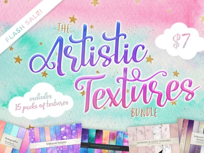 The Artistic Textures Bundle (15 packs of textures) sale background graphic design graphic patterns textures