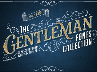 The Gentleman Fonts Collection masculine sans sans serif modern font script font fonts
