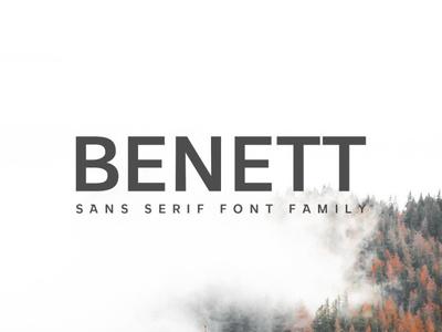 FREE Benett Sans Serif Font Family font design freebie sans-serif sans serif sanserif sans free fonts free font font