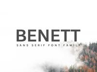 FREE Benett Sans Serif Font Family