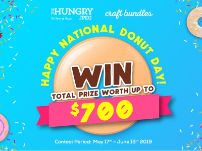 DONUT TOPPING CONTEST fonts graphics graphic free font freebie donuts donut competition giveaway contest