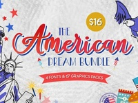 The American Dream Bundle united states of america united states america usa symbol stripes graphics graphicdesign graphic font fonts 4th of july 4thofjuly 4th july