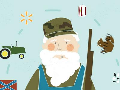 Wordless News 5.10.13 redneck vector illustration south stereotypes