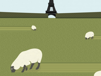 Wordless News 5.28.13 sheep lawn paris eco-mowers vector grass illustration