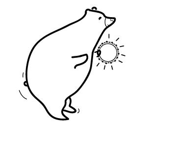Bear Jam bear tambourine wiggle illustration vector