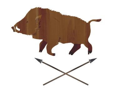 Don't be a Boar boar illustration hunt spear wild