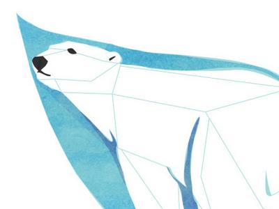 Wordless News  climate change polar arctic bear ice water warming vector texture