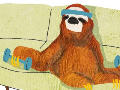 Slothin  sloth texture lazy illustration weights sweat band