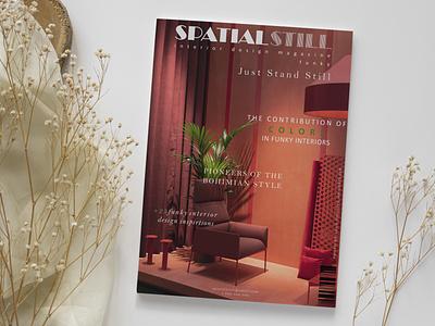 SPATIAL STILL - Interior design magazine still magazine cover cover graphic design magazine card business illustrator illustration design logo branding