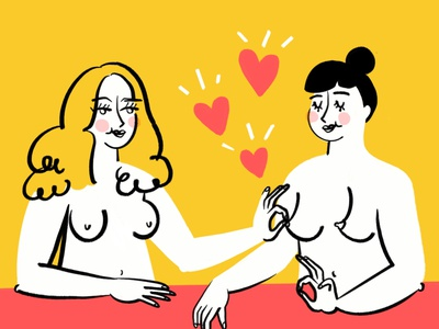 Ole Saint Galentines 👌👌👌 nipples boobs painting pinch art feminist feminism women procreate funny lol sketch doodle illo illustration design